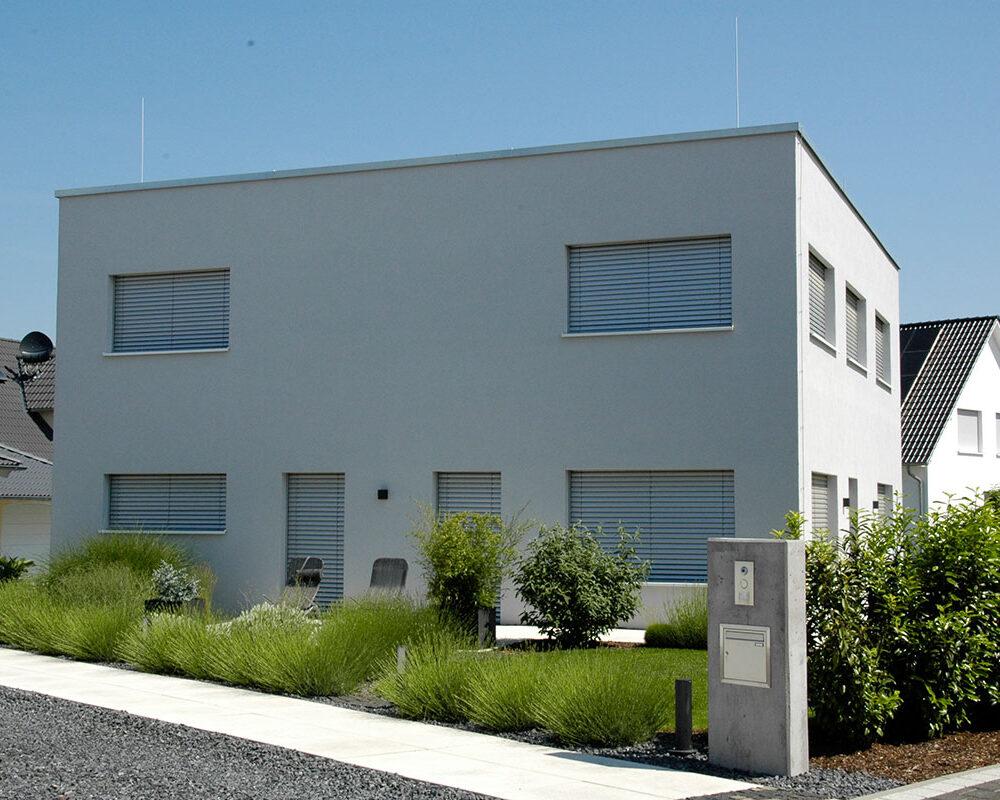 Neubau Einfamilienhaus als Effizienzhaus in Bürstadt (Hessen)